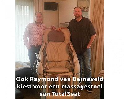 Ook Raymond van Barneveld gebruikt een massagestoel om ontspannen te blijven