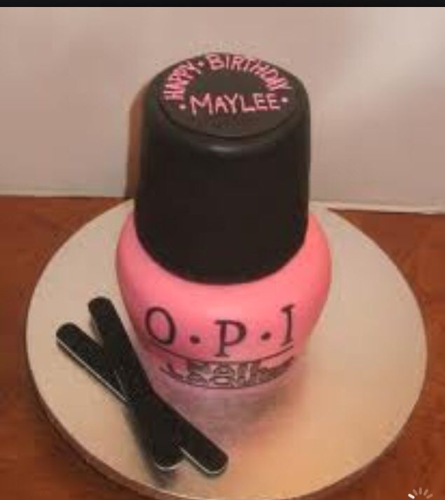 Spilled Nail Polish Cake: 12 Best Nail Cakes Images On Pinterest