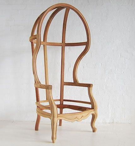 Traditional Mahogany Porters Chair / Hall Porters Chair / Dutch Connection