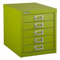 Bisley Green 5-Drawer Cabinet