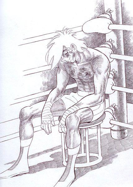 "#manga last panel of ""Ashita no Joe"" (Rocky Joe) by Tetsuya Chiba, Asao Takamori"