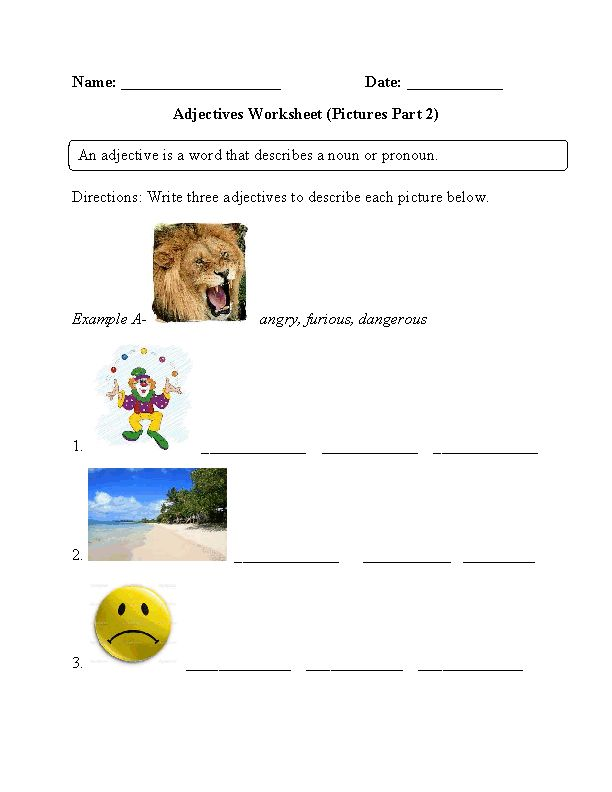 The Human Endocrine System Worksheet  Best Spelling Images On Pinterest  Early Learning Spelling And  Comma And Semicolon Worksheets Word with Early Algebra Worksheets Excel This Adjectives Worksheet Instructs The Student To Look At Each Given  Picture And Write Three Adjectives That Describe Them Long Division Worksheets Grade 4 Word