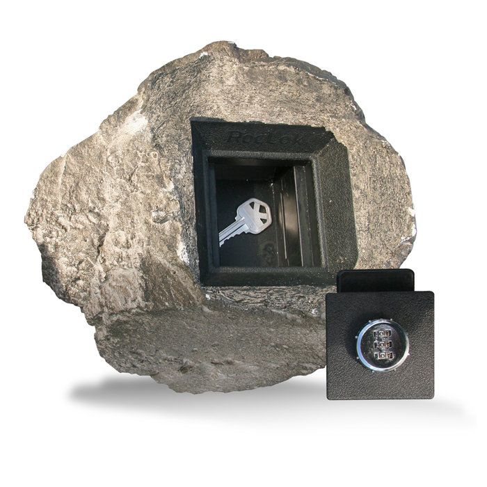 RocLok Hide-a-Key Faux Rock with Combination Lock