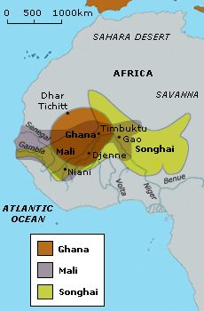 cc cycle 1 wk 14: History-  Songhai (video)(map) Medieval West African empires.