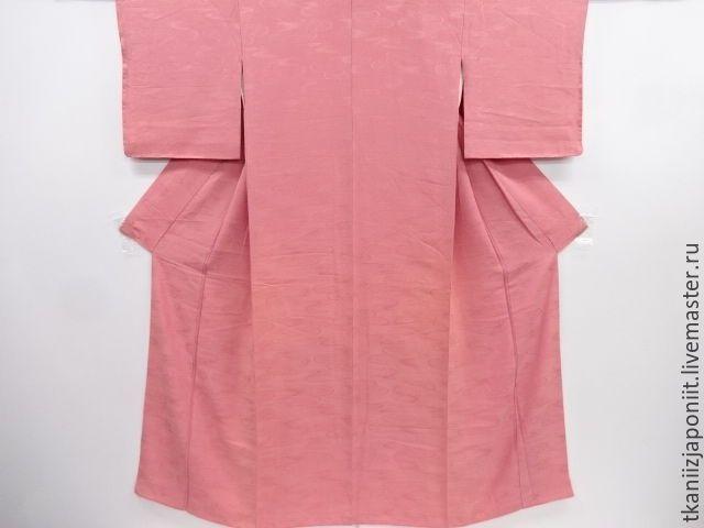 """Купить Японское кимоно """"Тканый поток и хризантемы"""" - розовый, кимоно, кимоно купить, японское кимоно"""