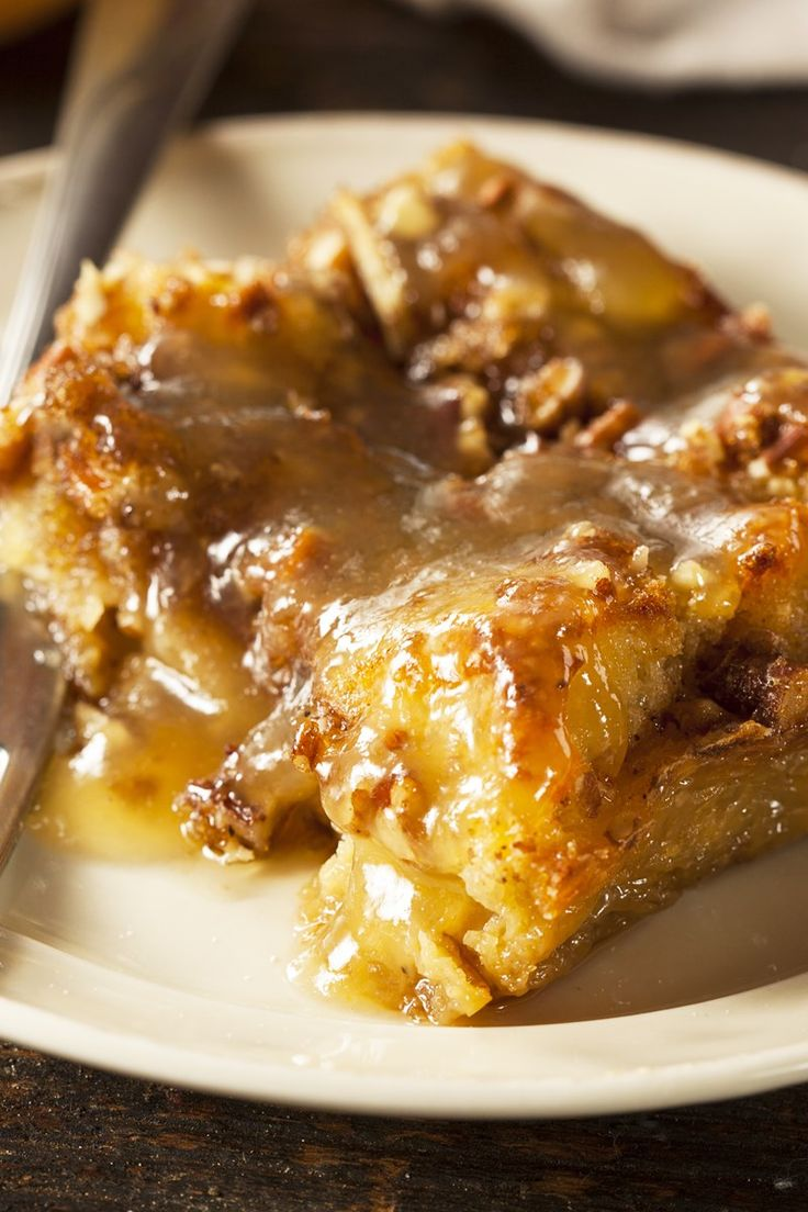 Brown Sugar Pecan Bread Pudding with Brandy Sauce