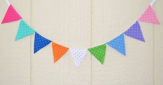 Made to order mini banner Party 20 flags by IzabelleCollections, $22.50