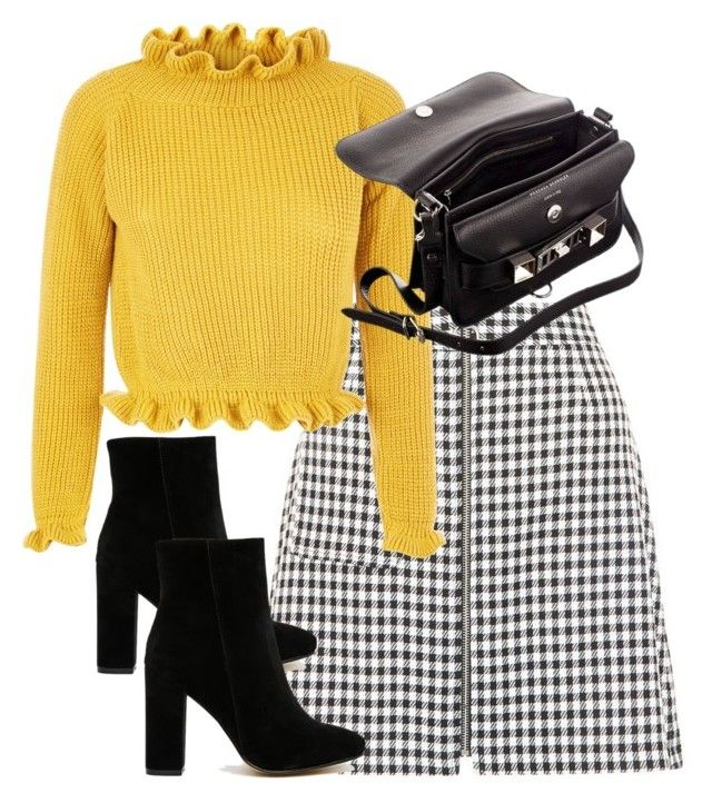 """""""Untitled #4898"""" by theeuropeancloset on Polyvore featuring New Look, Public Desire and Proenza Schouler"""