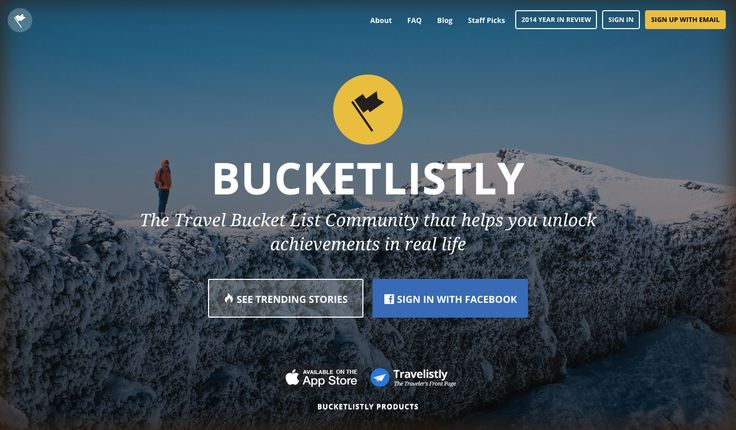 The travel bucket list community that turns your life into a game, create online bucket list, get bucket list ideas, unlock achievements in real life and share your travel stories with friends