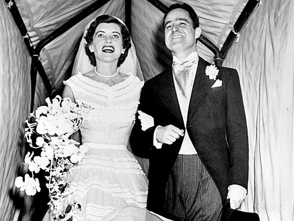 Sargent Shriver(1915-2011) married Eunice Kennedy (1921-2009), a sister of John F. Kennedy, on May 23, 1953 at St. Patrick's Cathedral in New York City.  They had five children.  She was the founder of the Special Olympics and he was the driving force behind the Peace Corps.