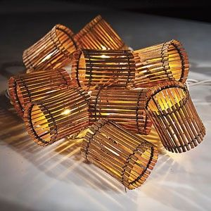 Bamboo Tiki Lantern String Lights
