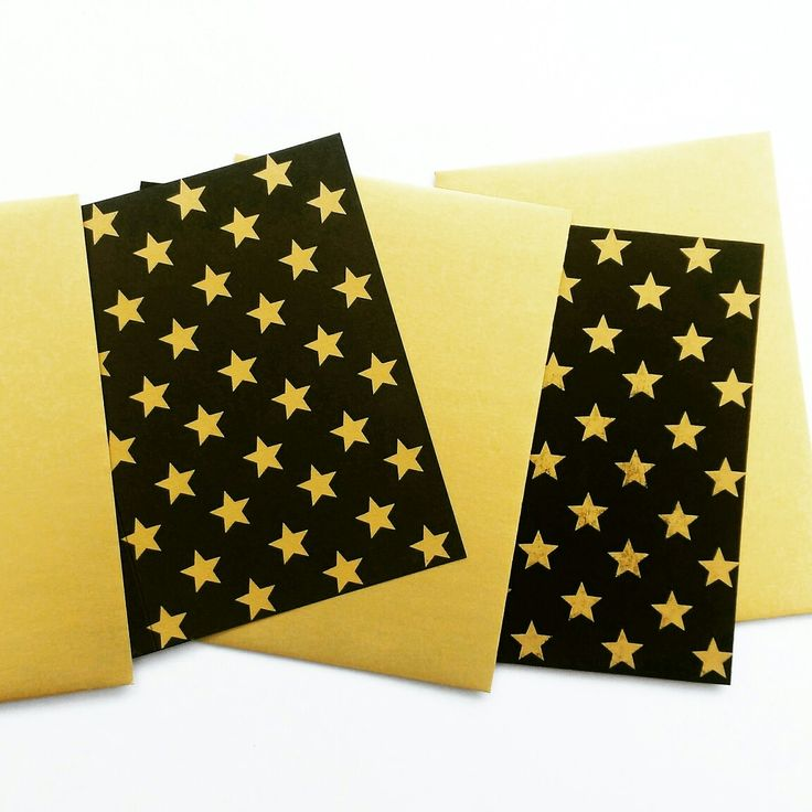Gold star print cards by off print.