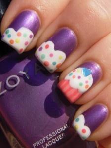 How cute are these?! :)Adorable Nails, Nails Art Ideas, Beautiful Nails, Nails Design, Amazing Nails Art, Cupcake Nails, Fashion Makeup Hair, Hair Nails, Cupcakes Nailsss