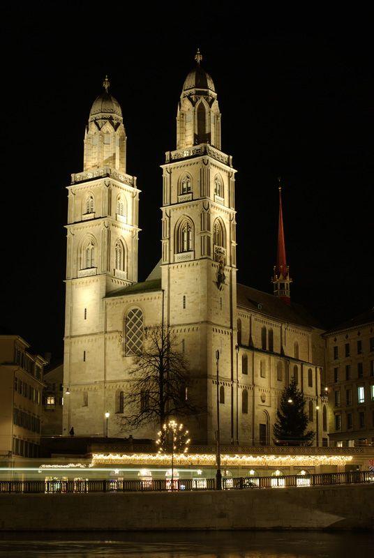 Grossmünster  Switzerland - Zurich