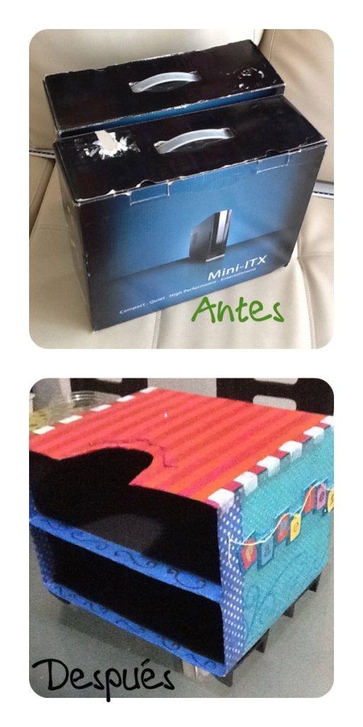 Recicla cajas de cartón
