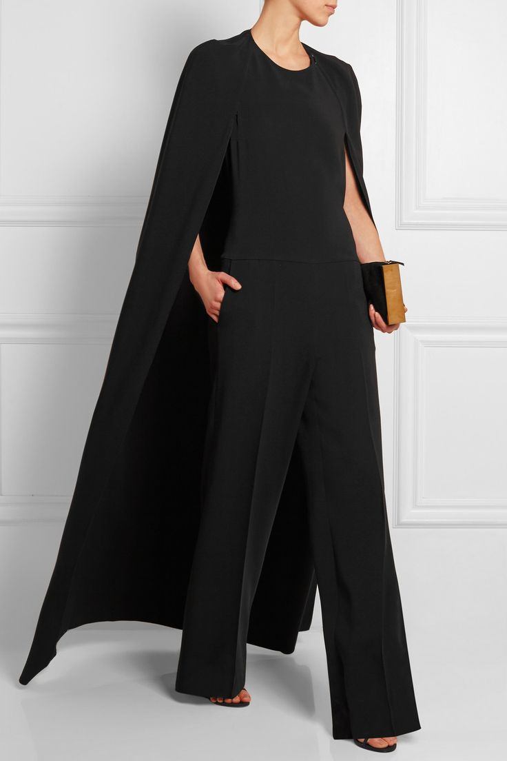 Stella McCartney | Cape-back crepe jumpsuit | NET-A-PORTER.COM