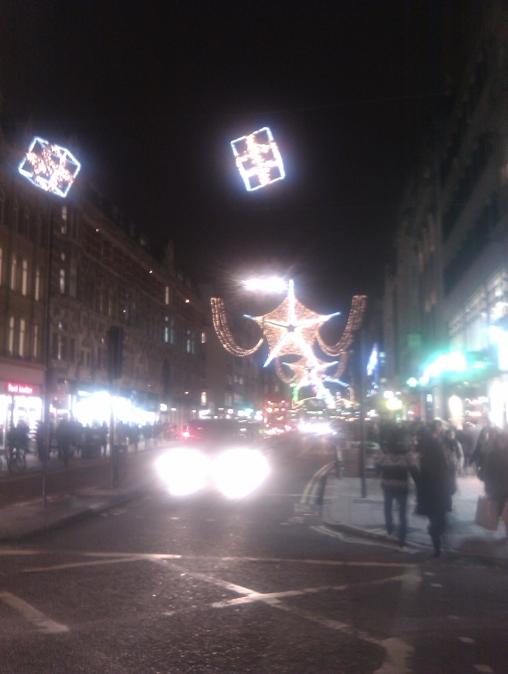 Oxford Circus Xmas decorations 1