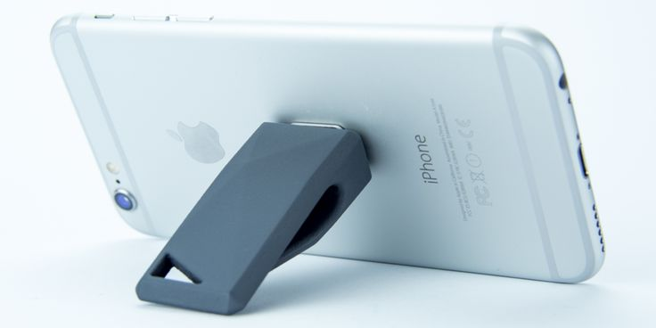 Stikey is a magnetic landscape stand for all smartphones or phablets.  April on Kickstarter! http://stikey.co.uk/