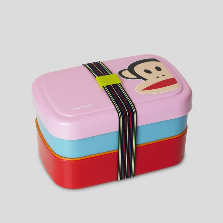 Paul Frank picnic box - by ROOM COPENHAGEN. Find more licensed Paul Frank products at www.roomcph.com. Tags; Julius, Paul Frank, Room Copenhagen, design, lunch box, picnic, fun, colourful