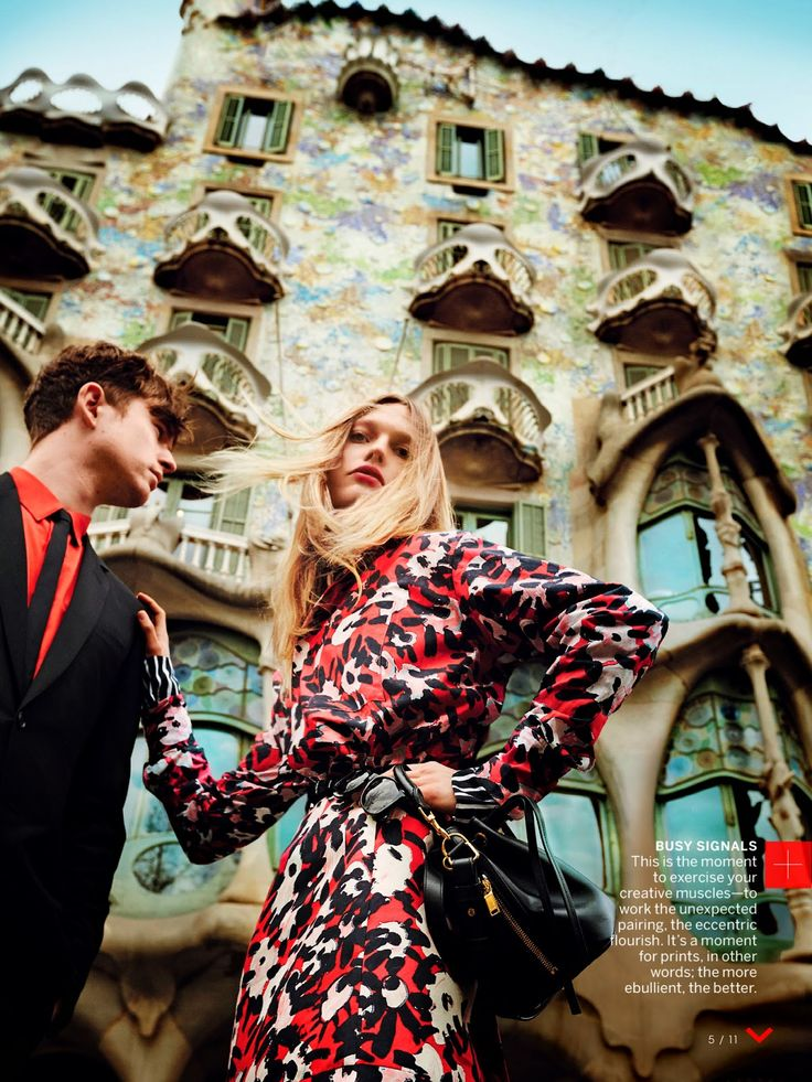 Vogue U.S. May 2014 | Sasha Pivovarova and James Blake by Mario Testino
