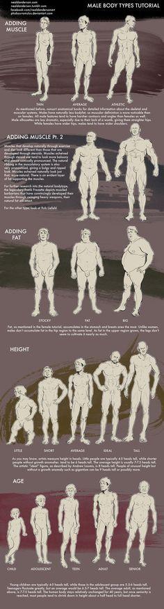 Recurso de dibujos del hombre en distintas fisonomías, pesos, estaturas y edades.