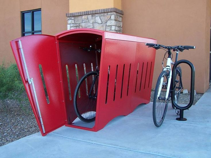 8 Best Images About Outdoor Bike Storage On Pinterest