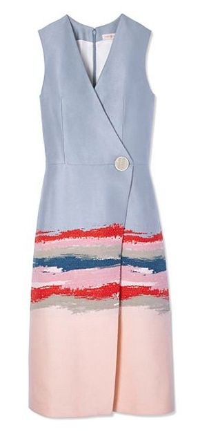 Tory Burch Painterly Jacquard Dress