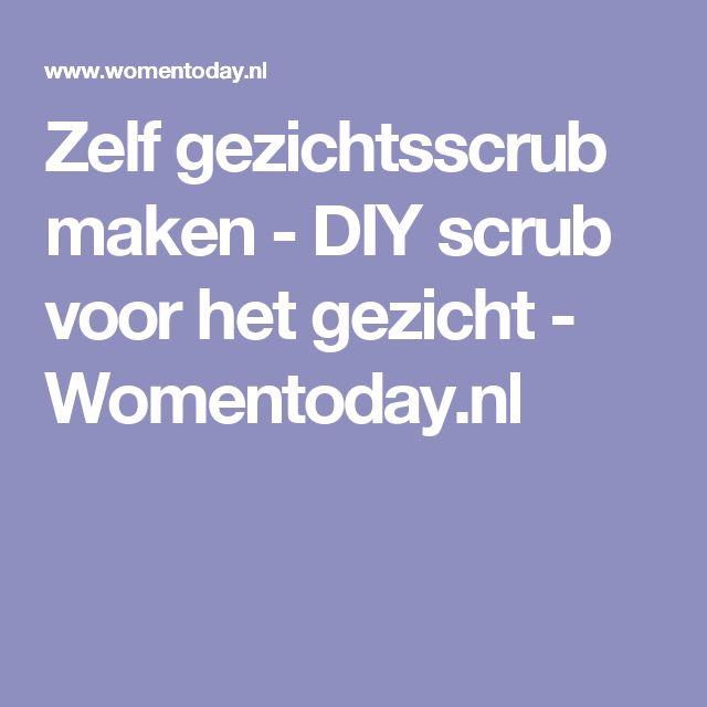 Zelf gezichtsscrub maken - DIY scrub voor het gezicht - Womentoday.nl