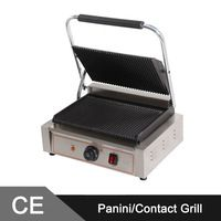 Large Single Head Commercial Sandwich Panini Grill _Sandwich Press Maker  Machine _ Contact Grill