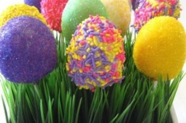 egg cake pops: Easter Cakes, Cakes Pop, Easter Crafts, Gourmet Cupcake, Cake Pop, Easter Eggs, Fake Grass, Easter Treats, Eggs Cakes