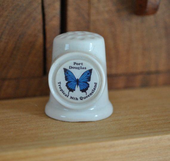 Vintage china vingerhoed - Port Douglas - Tropical - Queensland Australië - Butterfly