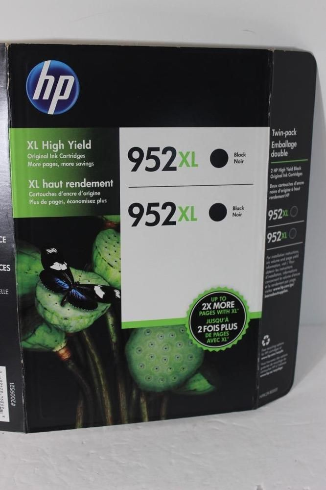 Genuine HP 952 XL Twin Pack Black Printer Ink Cartridges OEM NEW IN PACK-DEAL!  | eBay