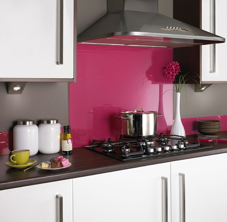 Hot Pink Gl Kitchen Splashback Ideaskitchen