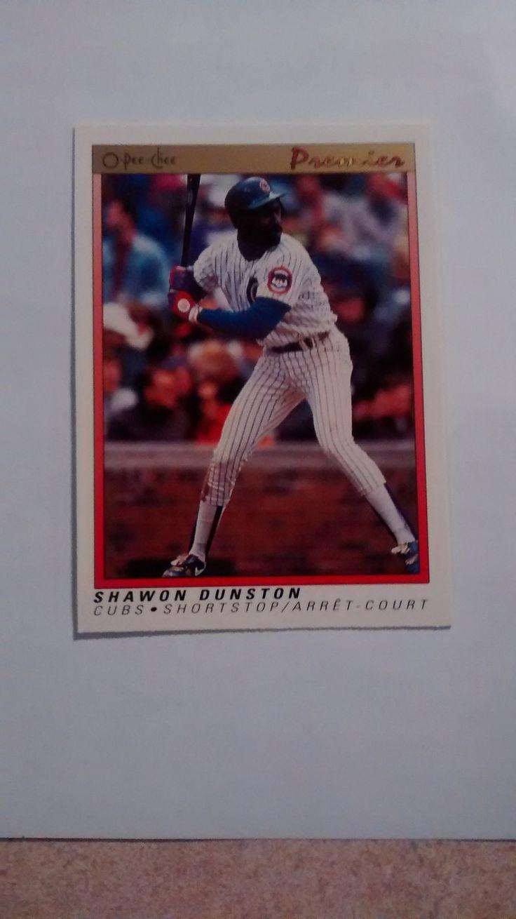 1991 OPC O-PEE-CHEE PREMIER BASEBALL #97 SHAWON DUNSTON CHICAGO CUBS