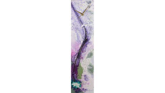 Purple Wall Clock Purple Wall art Handmade by ReformationsGlassArt