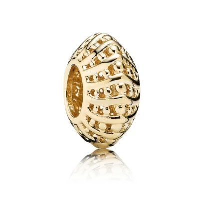 Pandora 14ct Gold Openwork Spacer 750824. Breathtaking openwork detail in 14ct gold, featuring a cascade of beaded beauty. This gorgeous spacer comes from the new Autumn 2014 Collection, perfect for creating a luxurious finish to your Pandora bracelet.