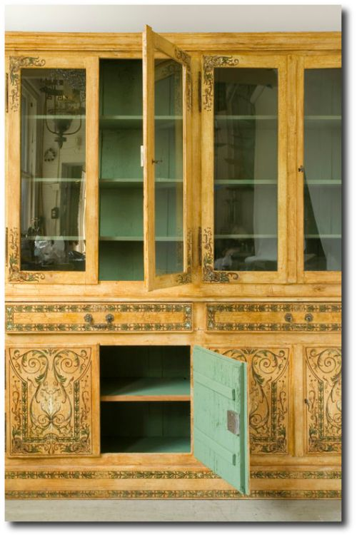 Neoclassical Style Painted Deux Corp Bibliotheque Cabinet From Seller Objects Plus Paint The