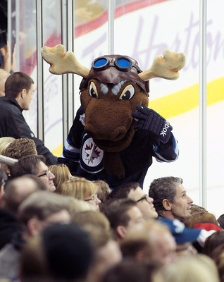 Mick E. Moose (Winnipeg)  Jet's Mascot