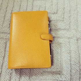 Filofax Finsbury |  - I love my red Metropol & aqua Malden, but the yellow Finsbury is growing on me!