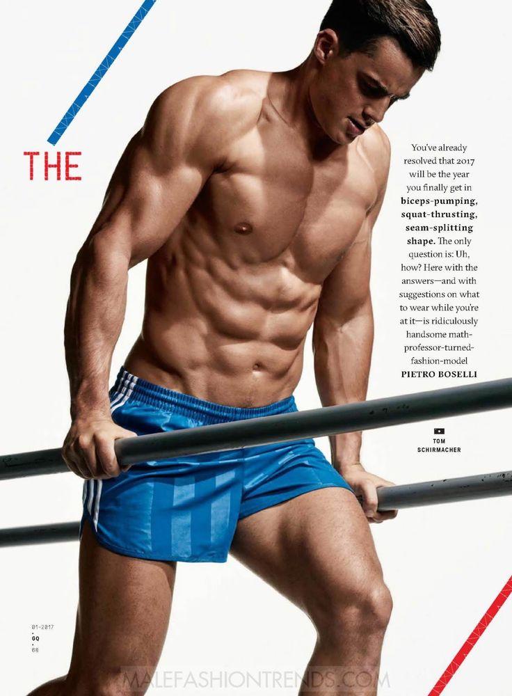 Pietro Boselli, nos muestra la rutina a seguir para conseguir un cuerpo perfecto el próximo año en páginas de la edición de Enero de GQ USA