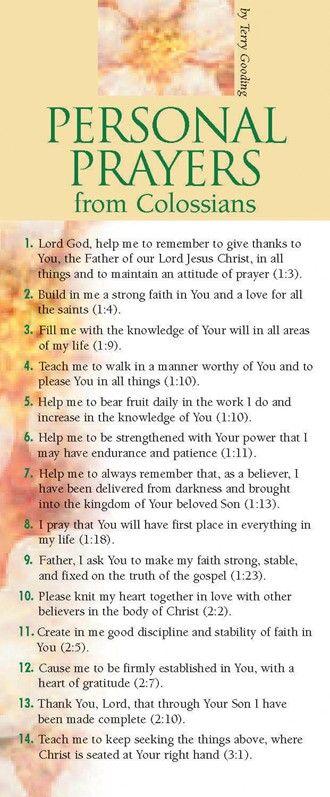 Personal Prayers from Colossians ... Frihetens arv, www.frihetensarv.no, #frihetensarv, Bibelen, Jesus, Tro, Hjelp, Kjærlighet, Tilgivelse, Bønn, Omsorg, Overbærenhet, Frelse, Gud