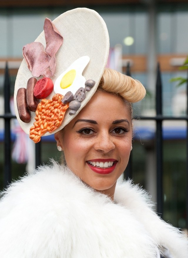 True meaning of Breakfast ---On the GO ! ___Crazy Fashion: The Breakfast Plate Hat | Relationships | Forums