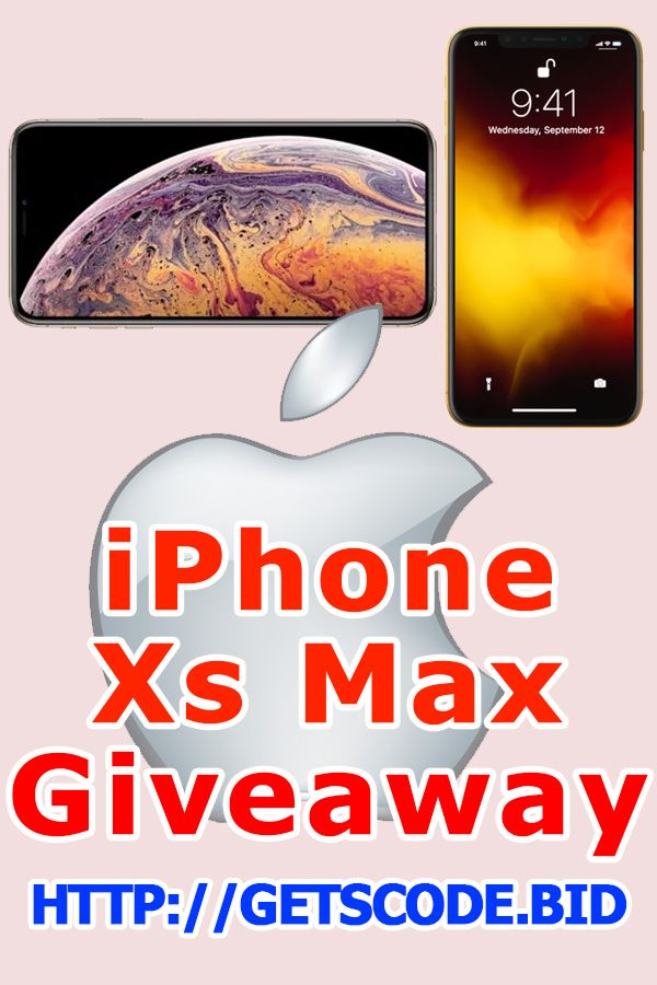 Get Free iPhone Xs Max - iPhone Xs Max Giveaway 2019 | http