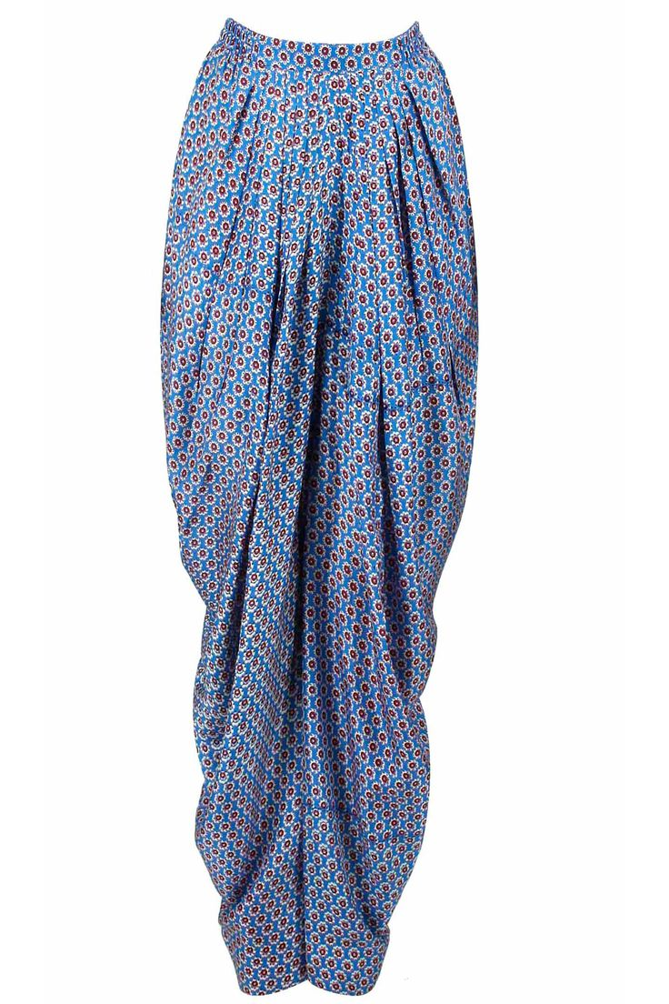 Blue print dhoti pants available only at Pernia's Pop-Up Shop.