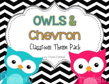 This colorful pack {250+ pages} will brighten any classroom with adorable owls and eye-catching chevrons! Editable pages can be edited within the PDF - no separate files or need to download fonts! Included in this pack:* Calendar: Days of the Week, Months of the Year, Days in School,     Weather Chart* Alphabet Posters {full page and  page}* Daily Schedule Cards   *Editable* Table Signs: 2 Sizes {Numbers 1-6} *Editable* Classroom Job Headings & Job Cards  *Editable* Behavior Clip Chart  ...