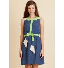 Vestido verde y azul de Rosalita McGee.