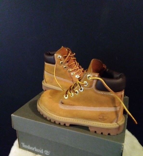 Toddler Timberland Classic Wheat Nubuck Leather Boots Sz 10 Unisex Snow #Timberland #Boots #christmas