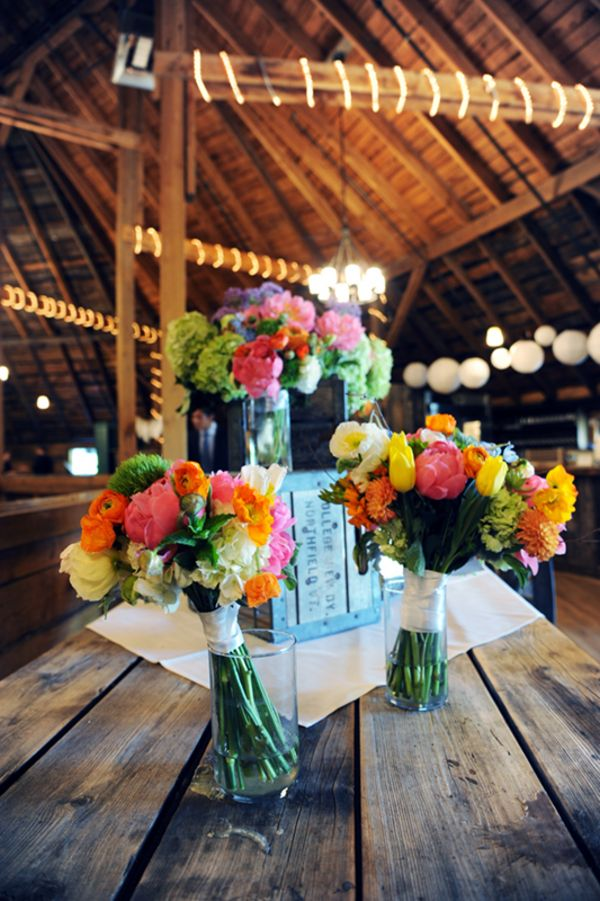Brightly Colored Wedding Bouquets