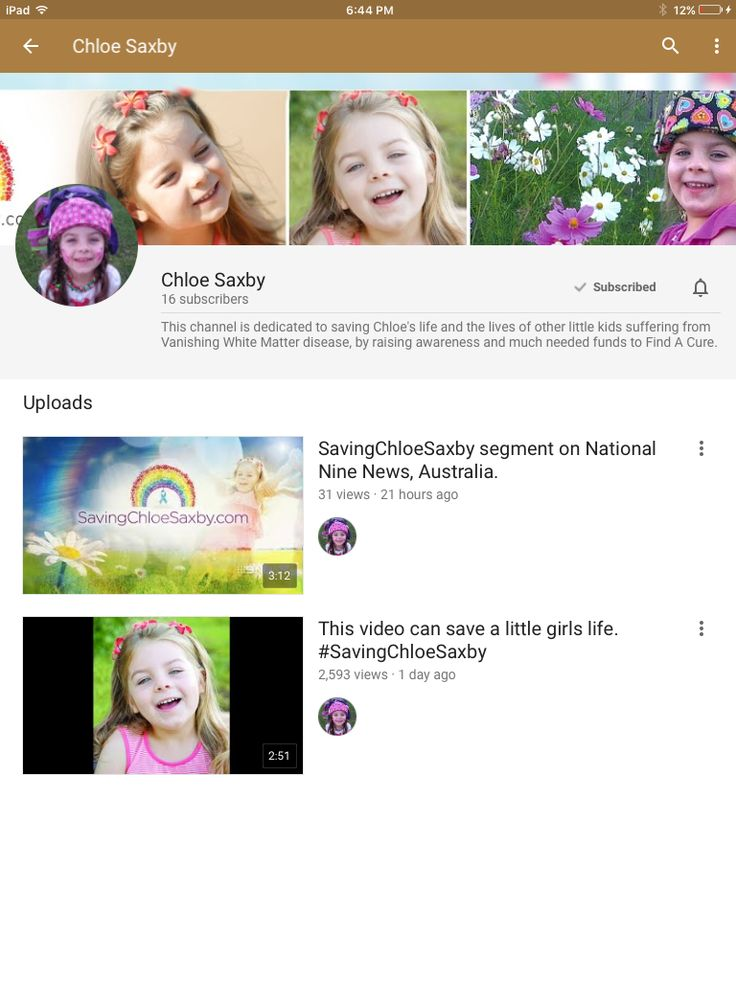Please go and watch Saving Chloe Saxby on YouTube - and don't forget to share and even donate! https://www.mycause.com.au/page/118552/chloe-saxby Thankyou.