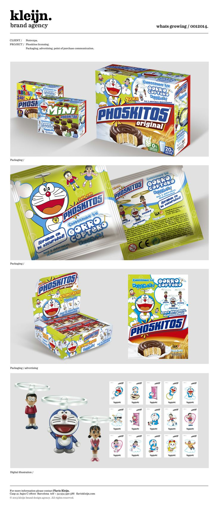 """SPAINS FAVOURITE SNACK"".  Nutrexpa. Phoskitos. ""Nibbling fun!"" BRAND IDENTITY. ILLUSTRATION. PROMOTIONS. VISIBILITY. PRESS ADVERTISING."